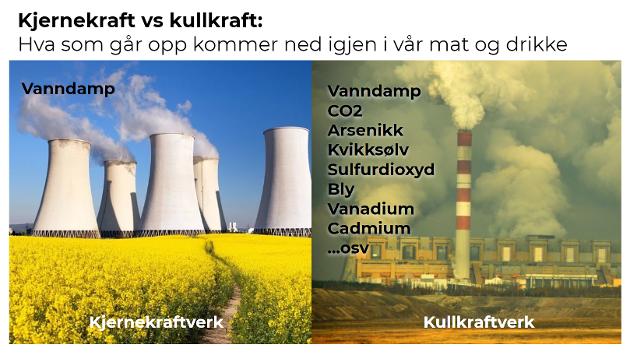 MÅ TA DISKUSJONEN: Kjernekraft vs kullkraft for klima og miljø er en diskusjon vi må ta. Og vi må starte nå, skriver forfatteren