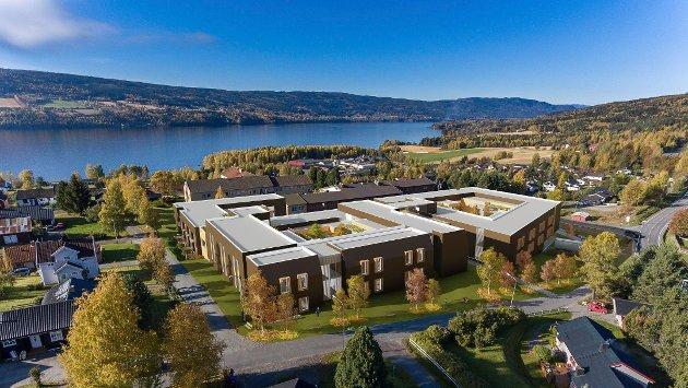 PLANER: Slik ser JAF Arkitektkontor for seg at nye Hovli omsorgssenter vil se ut.