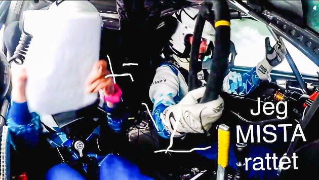 Runar Pedersen og kartleser Stine Marie Klemetsdal slapp fra det med skrekken sist helg. Nå er bilen klar til dyst igjen - med ratt denne gangen.