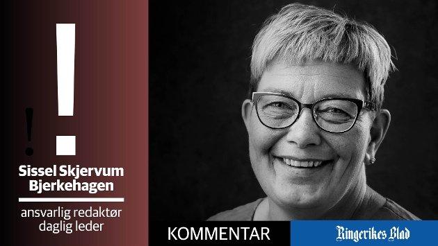 DEBATT: - Tar vi debatten, også om de ubehagelige sakene, åpner vi også muligheten for å høre at motparten kanskje har noe fornuftig på hjertet, skriver redaktør Sissel Skjervum Bjerkehagen.