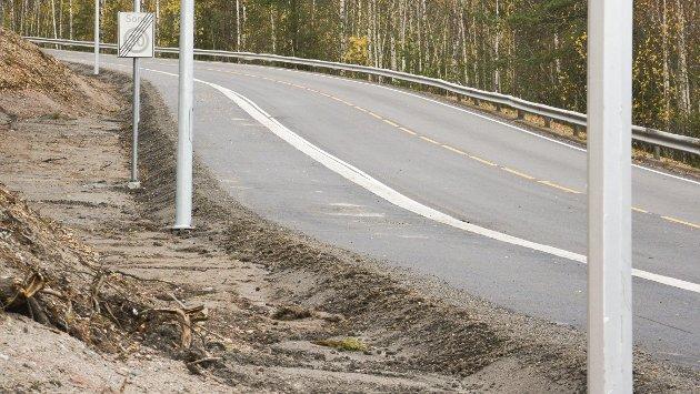 NY GANGVEI: På mandag ble det nye fortauet ned fergeveien åpnet.