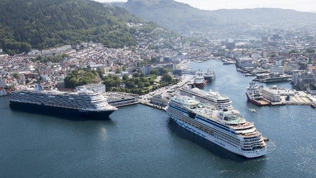 Arkitektene så store muligheter for å utvikle Skoltegrunnskaien til snuhavn for cruiseskipene. FOTO: ARNE RISTESUND