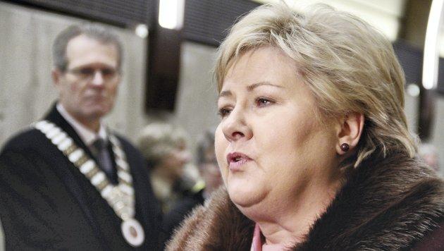 Mobbe-nei: Flopp eller suksess for Erna Solberg? Hun stiler høyt foran valget. Foto: Pål Nordby
