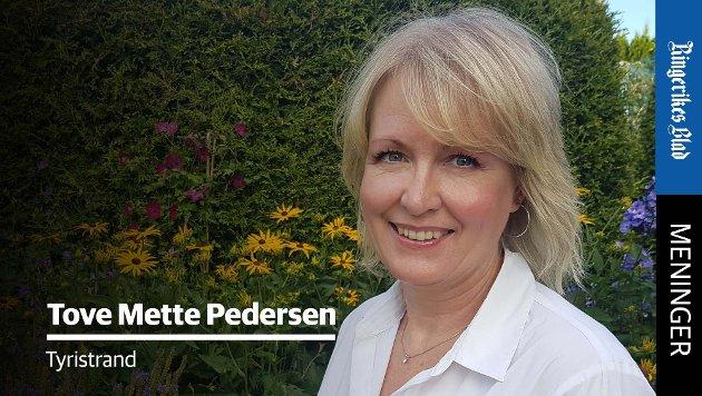 OPPDRAGELSE: – Jeg savner at søkelyset rettes mer mot oppdragelsen og sosialiseringen i hjemmene, skriver Tove Mette Pedersen.