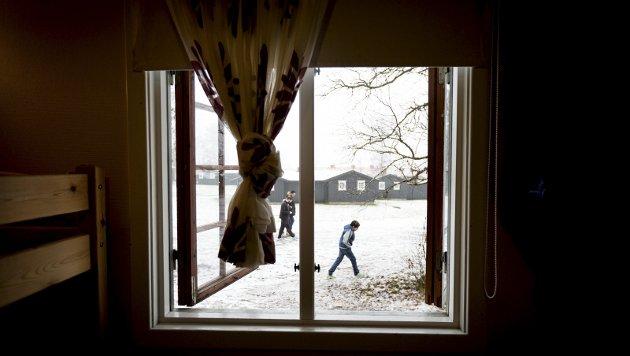 – Familievennlig: Ifølge innsenderen oppholder barnefamilier seg ikke på Trandum, men på Haraldvangen ved Hurdalssjøen. Foto: Lisbeth Lund Andresen