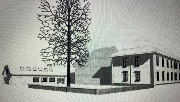 Fredheim empirekvartal med forslag til nybygg