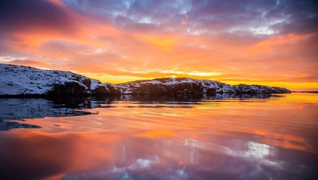 Vakre Helgelandskysten 14. januar 2021.