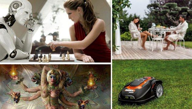Kunstig intelligens: Den blir stadig bedre og vi møter den på flere områder, som motstander i sjakk, som «kunstner med hallusinasjoner» og som hagearbeider.