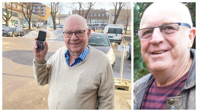 SKAM: Det er skammelig at godt voksne skal sjaltes ut slik som dette, skriver Olav Mathiassen (til høyre) om Arild Johansens opplevelser av livet uten smarttelefon.
