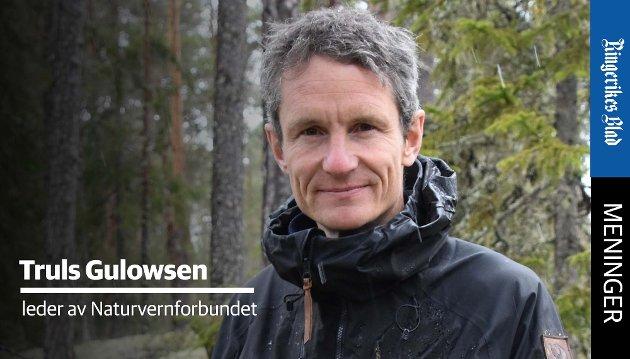 UENIGE: – Det er ingen tvil om at Jonas Gahr Støre, Trygve Slagsvold Vedum og Audun Lysbakken er uenige om deler av miljøpolitikken, påpeker Truls Gulowsen i Naturvernforbundet.