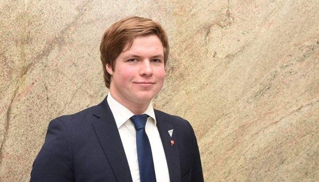 OM KLIMAPLAN: Hans Christian Andersen Knudsen- andrekandidat for Sogn og Fjordane SV i stortingsvalet