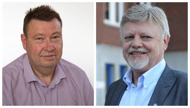 ARTIKKELFORFATTERE: Trond Ekstrøm ( til venstre) og Bent Moldvær