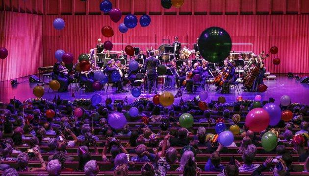 Takk for seg: Musikkfestuka takket for seg med en flott konsert, ballonger og gullkonfettig ‑ og et feststemt publikum.  Alle foto: Bjørn Erik Olsen