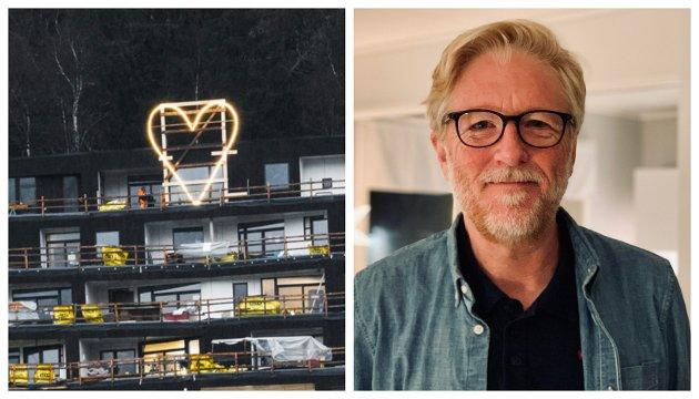 SYMBOLET: Lyshjartene får vere symbolet på at vi har klart å komme igjennom dette på ein bra måte – i lag, skriv redaktør Kai Aage Pedersen.
