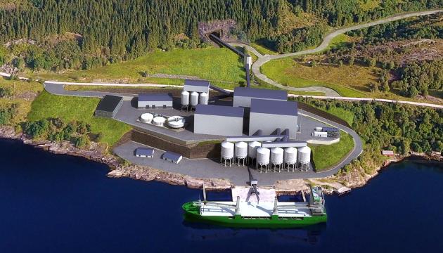 ANLEGGET: Nordic Mining sitt planlagte prosessanlegg ved Førdefjorden. Forfattaren Yngve Solbakken meiner det kan bli ei vitamininnsprøyting for bygda Vevring.