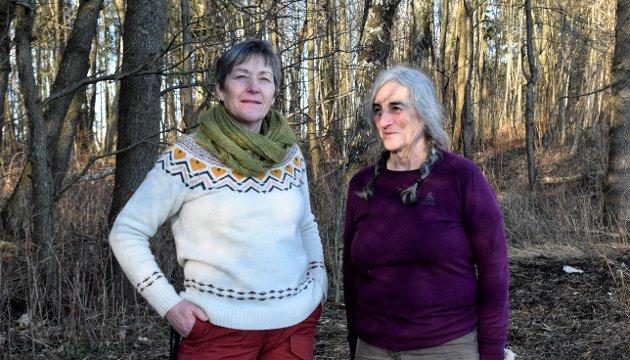BEKYMRET: Unni Elisabeth Eriksen og Ragnhild Trosby i Naturvernforbundet skriver om området mellom Steinsnes og Rørestrand.