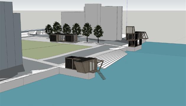 ILLUSTRASJON: Slik vil det nyet toalett- og servicebygg med intergrert pumpehus se ut.