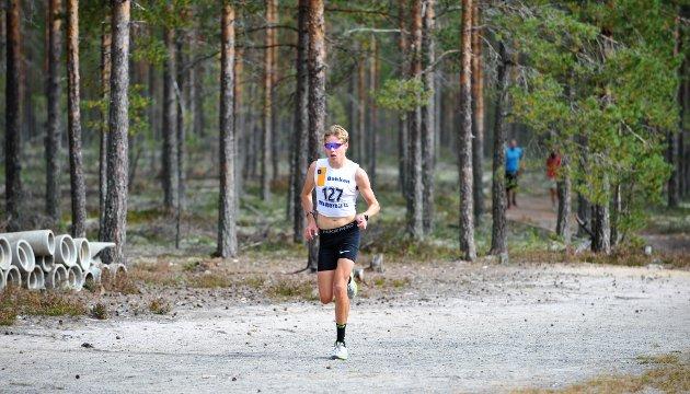 KNALLSTERK: Østen Brovold Midtsundstad er bare 16 år, men kapret 3. plassen på meget sterke 18.01 på drøye fem kilometer.