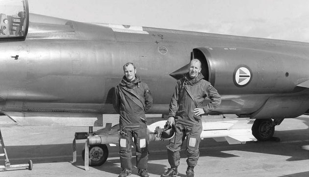 Starfighter: Olav Aamoth og Rolf Noel er fremtredende i historien om jagerflyberedskapen i Bodø. De har begge vært operative på F-86K og F-104 Starfighter. Foto: Luftfartsmuseet
