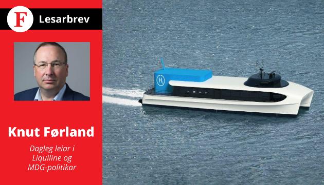 TEKNOLOGIEN ER DER: Viss Vestland fylkeskommune utset satsinga på nullutslepps-transport på sjø no, så handlar det i alle fall ikkje om at teknologien ikkje er på plass, skriv Knut Førland i dette innlegget.