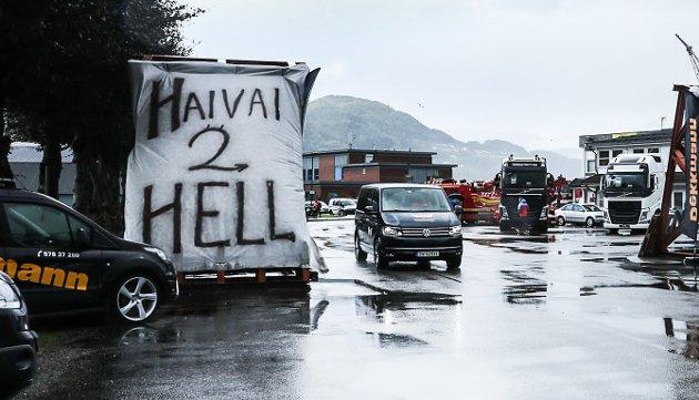VELKOMMEN: Inngangsporten til Trøkk n'Truck 2018.