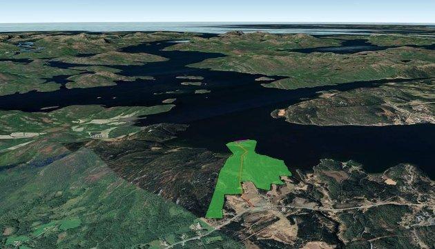 Namsos kommune foreslår et område ved Sævik som tomt for den planlagte batterifabrikken.