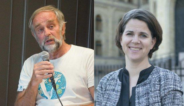 Johan G. Ellingsen, Enebakk Venstre og Solveig Schytz, stortingsrepresentant for Venstre.