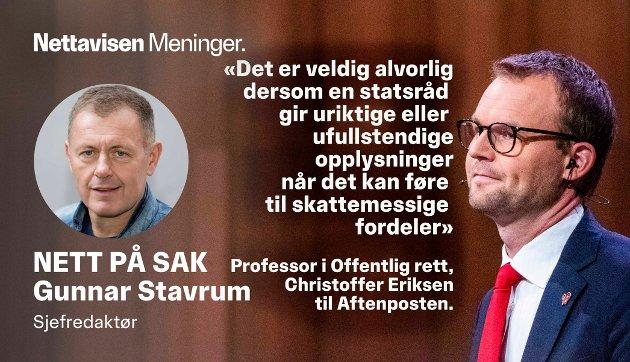 I HARDT VÆR: KrF-leder Kjell Ingolf Ropstad under den NRK-sendte partilederdebatten fra Stormen konserthus i Bodø.