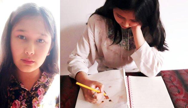 FØDT PÅ FLUKT: Farida Khurami (14) ble født på flukt. Da hun og moren kom til Norge var Farida 6 år gammel.
