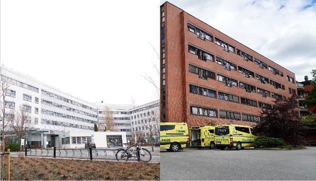 Økonomisk truet: Sykehusene i Levanger og Namsos. Foto: Johan Arnt Nesgård/Bjørn Tore Ness