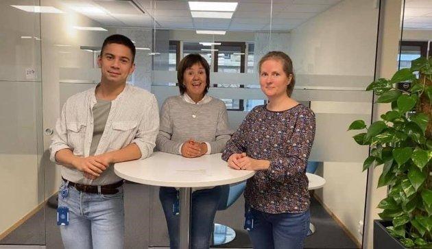 Fra venstre: Dag W. Larsen, Linda Lavik og Tiril B. Svensen