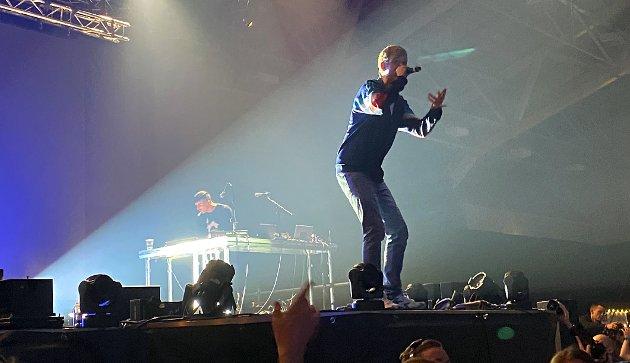 Lars Vaular leverer uten å bomme på en pust da han hadde konsert på Wonterland. Foto: Maja Sojtaric
