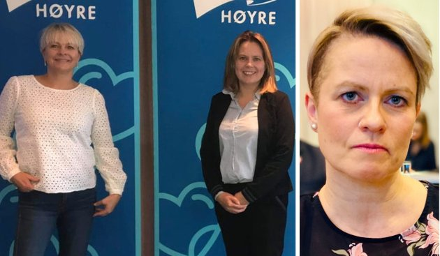 Julie Solfjell, Harstad Høyres kvinnepolitiske talsperson, Nina Dons-Hansen, Harstad Høyre/stortingskandidat for Troms og Christine B. Killie, Tjeldsund Høyre/stortingskandidat for Troms.