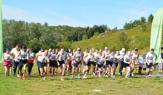 Årets utgave av Leknesløpet ble innrammet av herlig sommervær, og hadde 49 deltakere på startlinjen. Her går starten på 5 og 10 kilometeren.
