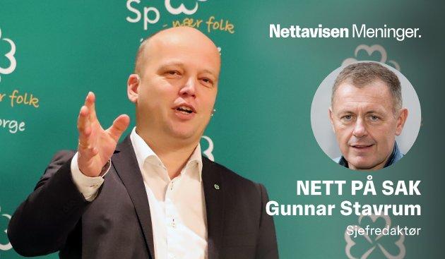 MESTERLIG: Senterpartiets leder og statsministerkandidat Trygve Slagsvold Vedum manøvrerer mesterlig for å få maksimal uttelling i politikken.