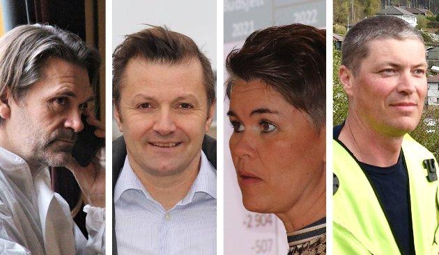 SAGT OPP: Kultursjef Trond Ole Pausen, næringssjef Tor Arne Johnsen, økonomisjef Hanne Karin Fjelde Krog og plan- og forvaltningssjef Sven Norland har levert oppsigelser i løpet av de siste fire månedene.