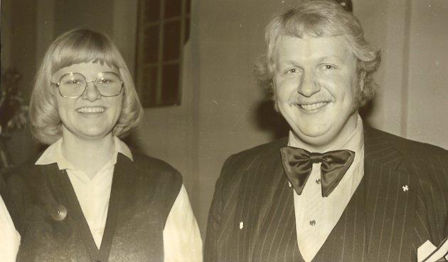 UNGE: Her var Inger Jåvold og Ole Andre Torp litt yngre... Fra den gang de to var solister i koret Agape.