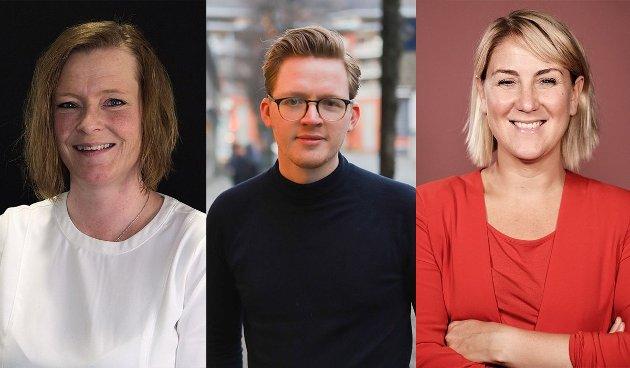 F.v. Anne Sandum, Even A. Røed og Tonje Brenna
