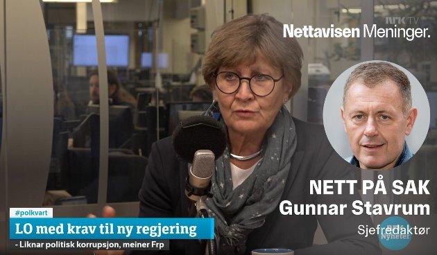 MILLIONSTØTTE: Fagforbundets leder Mette Nord sitter i Arbeiderpartiets sentralstyre, og er også en av partiets største sponsorer.