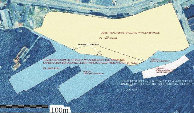 KILEN: Nye Kilen Brygge har nå bygget ned over 10.000 kvadtamter vannspeil, som aldri lar seg tilbakeføre til allmenhetens bruk, skriver Jørn Myhre.