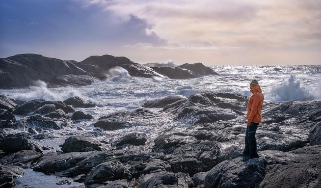 VILT: Nydelige bilder fra en stormfull lørdag på Eigerøy.