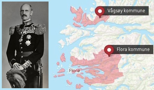 KOMMUNAR OG KONGEN: Finnast det folk med Kong Haakon sine haldningar i ytre Sunnfjord, spør innsendaren.