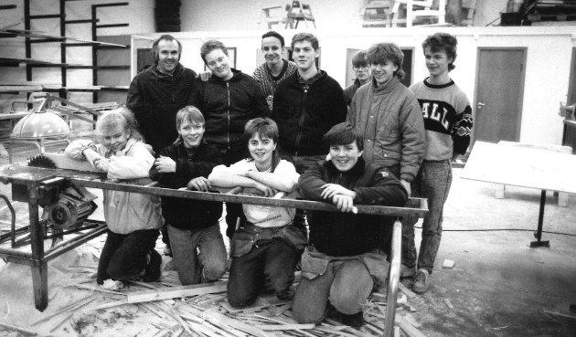 Januar 1989. Tømrer-elever på Mosseporten vgs.