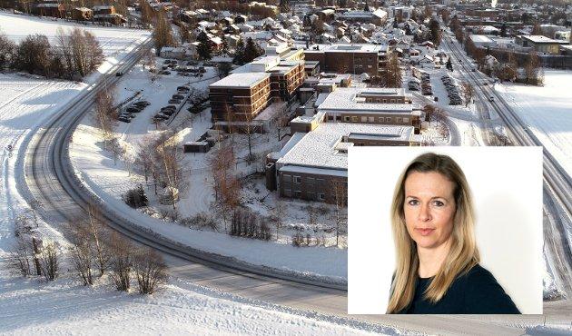 SYKKELVEG: Syklister nord i Lillehammer risikerer å vente lenge på en tryggere løsning forbi Helsehuset.