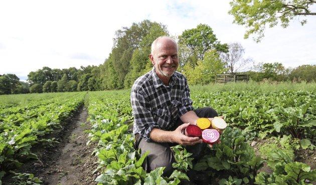 LOKALT: Kjøp  norsk, oppfordrer artikkelforfatteren. Bildet er fra Roy Hasles beteproduksjon i Rygge