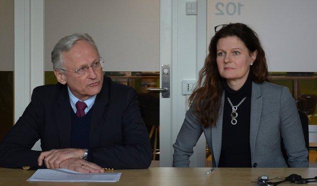 SIER JA: Styreleder Svein I. Gjedrem og administrerende direktør Cathrine M. Lofthus i Helse Sør-Øst sender sykehussaken ut på ny høring.