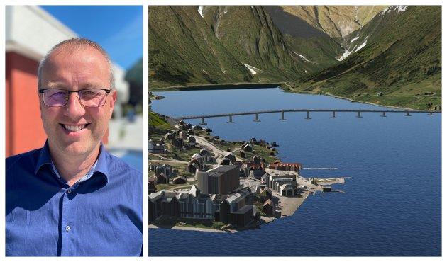 SVARAR: Ordførar i Sogndal, Arnstein Menes, svarar her på brevet der fleire personar i Balestrand går i mot bruløysinga over Esefjorden.
