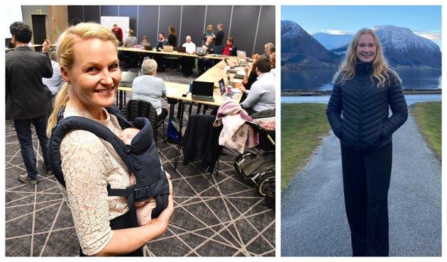 URO: Kristin Rundsveen Bøtun og Emma Berge Ness (Sp) er skeptiske til å avkriminalisere narkotika.