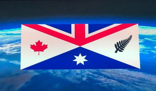 Et av mange forslag til CANZUK-flagg som florerer på internett.