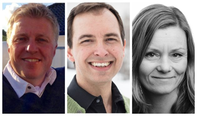 Øvre Eiker Senterparti, Håvard Lind, Kim Mogen Myhre og Astrid Røren.